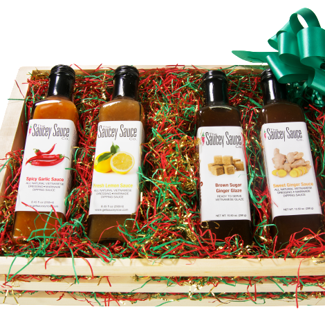 Saucey Sauce Holiday Gift Box Packaged