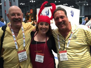 "Kate and the random ""Lobster Dudes"""