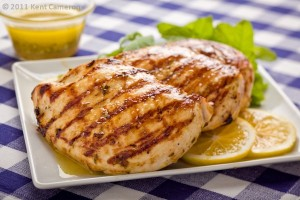 Marinated grilled chicken with Saucey Sauce