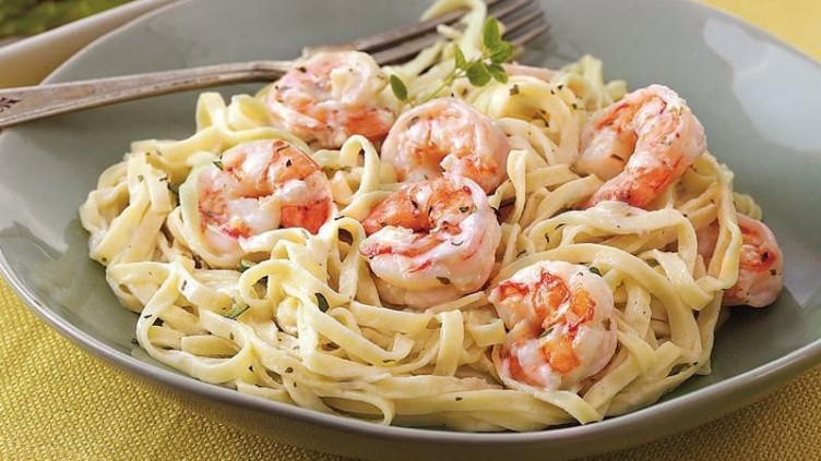 Spicy Carlic Shrimp Pasta