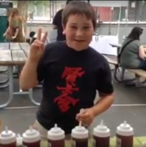 Meet Max - our youngest Saucey Sauce Super Fan!