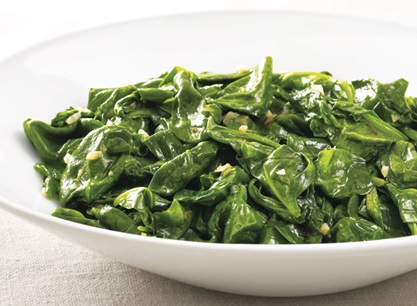 Spicy Garlic Sauteed Spinach